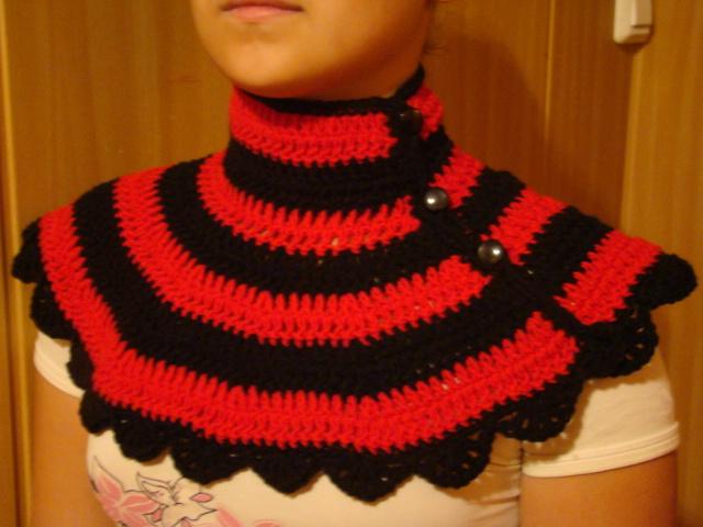 Вязание манишки с пуговицами спицами