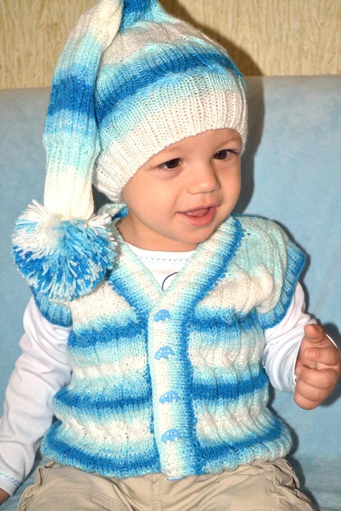 вязание шапочки гномика